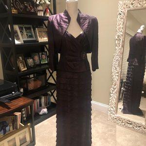 Jessica Howard Bolero Jacket Gown